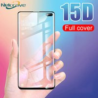 Wholesale tempered glasses screen protector s5 online – 15D Tempered Glass Screen Protector For Samsung Galsxy S10 plus S9 S8 S7 S6 note for The Protect Vehicle Free DHL