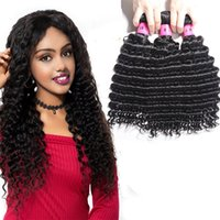 Wholesale xblhair for sale - Group buy 9A Brazilian Cheap Human Hair Weave Bundles Deep Wave Kinky Curly Hair Extensions Virgin Hair Bundles From XBLHair