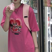 Wholesale horse women clothing resale online - 747g1 Ghost horse girl net red Korean short sleeve hot summer T shirt T shirt new ins fashion super women s students BF clothes kAbRq