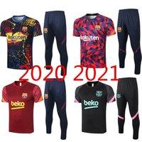 Wholesale paris uniforms resale online - Barcelona Football Jersey Paris Short Sleeve Football Jersey Short Sleeve Polo Adult Suit Uniform Size S XXL