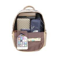 Wholesale nice men canvas backpacks resale online - Blue Nice Snake Women Backpack Zipper Designer Leather Backpacks for Fashion Lady Shoulder Bags