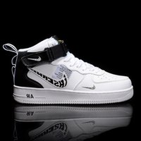Wholesale white air forces high top resale online - Naiki official AJ men s air force No board high top basketball small white women s sports shoes