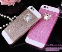 Wholesale iphone 4s glitter phone case for sale – best New Bling Bling Case Fashion For apple iphone s s s Shinning Case Glitter Protector Cell Phone Back Cover