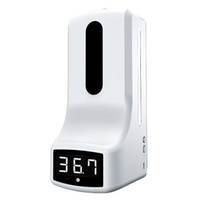 K9 Non-contact infrared thermometer with Disinfection Hand Sanitzier 2 In 1 Dispenser with Digital LCD Display