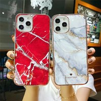 Wholesale imd phone case for sale – best Marble Stone Texture Phone Case For iPhone Pro Max X XR XS s Plus Colorful Soft IMD Back Cover Capa Luxury Red