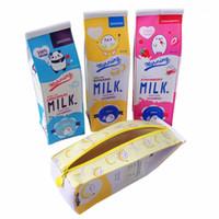 10pcs lot Kawaii milk box design Large capacity Waterproof PU Pencil Case Novetly pencil bag Cosmetic bag Nice gift for kids1