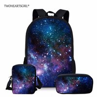 Wholesale unique girl backpacks for sale - Group buy Twoheartsgirl Multicolor Galaxy Star Space Backpack for Teenage Girls Boys Classic Unique Children Bagpack Student Kids Rucksack