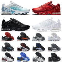 Wholesale 2021 New Quality Tuned Plus III Tn Laser Blue Crimson Red Mens Women Running Shoes ALL White Deep Royal Topaz Trainers Sneakers