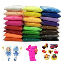 Wholesale air dry clay resale online - 36 Color Air Dry Light Clay With Tool Educational Toy Colorful Plasticine Polymer Creative DIY Clay Toy Kid Girl Birthday Gift