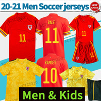 Wholesale bale for sale - Group buy 20 Wales soccer jersey BALE home red away yellow Soccer Shirts RAMSEY WILSON nation football team Uniforms Men Kids