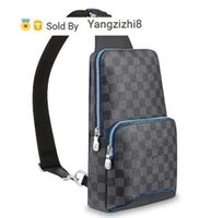 Wholesale sling backpacks resale online - Yangzizhi8 BAG AVENUE SLING N40008 MEN CLASSIC BLUE BLACK BACKPACKS FASHION SHOWS OXIDIZED LEATHER BUSINESS BAGS HANDBAGS TOTES MESSENGER