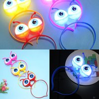 Wholesale eyeball lights for sale - Group buy Led Eyeball Hoop Flashing Headband Crown Heart Light Up Hairbands Hair Accessories Glow Party Christmas New Year TDF7