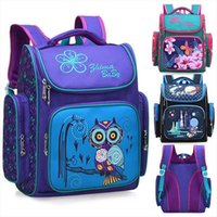 Wholesale purple owl backpack resale online - 2019 Children School Backpack For Boys Animal Owl Knapsack Girls Butterfly Backpacks Kids Satchel Space School Bags Grade