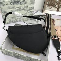 2020 new classic embroidered saddle bag letter pattern one shoulder messenger bag women's shopping handbag