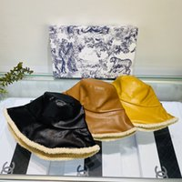 Wholesale Tactical hat outdoor sun hatDi Or Fashion with dust proof bag lamb woolen leather fisherman hat small fragrant wind to build clothes