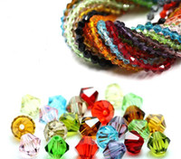 Wholesale! 4mm faceted crystal glass 5301# Bicone Beads, jewelry DIY U Pick color