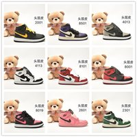 Wholesale jordan kids shoes for sale - Group buy Kids jumpman basketball Toddler shoes boys girls high sneakers grey black children air nakeskin jordan shattered backboard s trainers