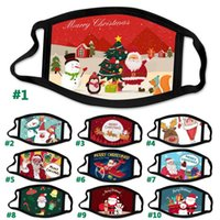 Wholesale Christmas mask washable cartoon cotton cloth mask foreign trade Santa Claus adult fashion face mask can be reused