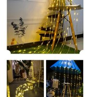 Wholesale waterfall led lights resale online - LED Lights Waterfall Light String Decor Lights Curtain LED Wedding Background Garden Party Halloween Christmas Decoration AHA1131