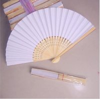 Wholesale china art painting resale online - Diy Art Collection Of Fan Painting Chinese Stage Fans Wooden Blank set For Paper Fan Folding Chinese Performance bbyfc garden2010