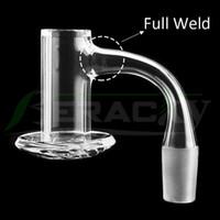 Beracky Full Weld Beveled Edge Smoking Blender Quartz Banger 20mmOD 45&90 Nails For Glass Water Bongs Dab Oil Rigs Pipes