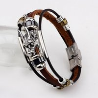 Wholesale chinese dragon heads for sale - Group buy 2016 Fashion Male Cool Genuine Leather Bracelet Men Belt Buckle Cuff Bracelets Cheap Chinese Dragon Head Jewelry bbyNZB bde_home