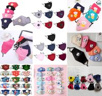 Wholesale Fashion Reusable Christmas Mask Unisex Cotton Face Masks With Breath Valve PM2 Filter Mouth Mask Anti Dust Protective Fabric Washable Mask