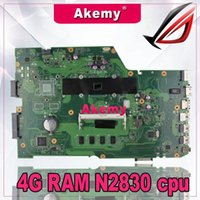 Wholesale AkemyX751MA Laptop motherboard For Asus X751MA X751MJ X751M K751M X751 Test original mainboard G RAM N2830 cpu
