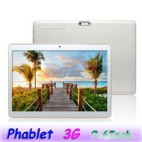 Wholesale tablet sim webcam resale online - Dual SIM Phablet K960 Android MTK6580 Quad Core G IPS Phone Tablet Bluetooth GPS Webcams GB GB Free Leather Case