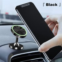Wholesale in car phone holder magnetic online – Universal º Rotating Adjustable Magnetic Phone Holder in Car Aluminum Alloy Dashboard Mount Stand for iPhone XS MAX Huawei Xiaomi