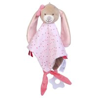 Wholesale stroller baby doll for sale - Group buy Baby Rattles Soothe Appease Towel Infant Newbron Rabbit Dolls Comfort Towel With Teether Crib Stroller Baby Toys For Months wmtBwj