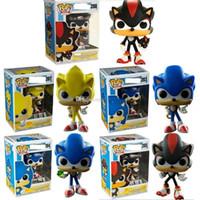 Wholesale pop figure resale online - FUNKO Sonic Boom Amy Rose Sticks Tails Werehog PVC Action Figures Knuckles Dr Eggman Anime POP Figurines Dolls Kids Toys forVO7H