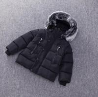 Wholesale desigual resale online - Dulce Amor Kids Down Jacket Winter Warm Parkas Coats Thicken Natural Fur Collar Hooded Outerwear Baby Boys Girls Clothes