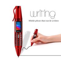 Wholesale camera mp3 player flashlight resale online - Unlocked K07 inch Tiny Screen Goophone Pen mini Mobile phone Dual SIM Card Bluetooth Dialer Cellphone with Flashlight Recording Pen