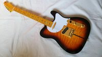 Wholesale tl guitar maple for sale - Group buy Custom Shop Sunburst TL Electric Guitar Quiltd Maple Top Guitar Maple Fretsboard Gold Hardware China Guitars