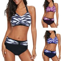 high plus size swimwear 2021 - New Women's Bikini swimwear high waist Swimsuits Swimwear Push Up Bikini Set Women's Plus Size 5XL Swimsuit T200324
