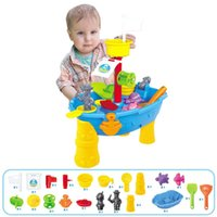 Wholesale bathtub tray resale online - 23pcs Set Outdoor Water Sand Tray Sand Digging Toy Set Kids Beach Toy For Beach Seaside Swimming Pool Bathtub wmtzLB xhlove