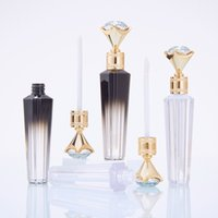 Wholesale lipgloss package resale online - Fashion Diamond Lip Gloss Tubes Clear Empty Lip Gloss Tube Lip Gloss Travel Bottle Packaging Containers Refillable Lipgloss Bottles BWF2628
