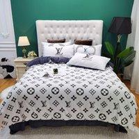 Wholesale best white bedding for sale - Group buy 2020 white bedding sets velvet queen size designer bedding pillow cases home best full letter luxury bedding for home