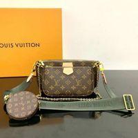 Wholesale Best selling handbag shoulder bags designer handbag fashion bag handbag wallet phone bags Three piece combination bags free shopping M44813