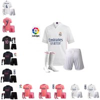 Wholesale real madrid home socks resale online - 20 Real Madrid HAZARD MODRIC adult kids kit socks Soccer Jerseys SERGIO RAMOS BENZEMA ISCO KROOS MARIANO Home Away rd Football Shirt