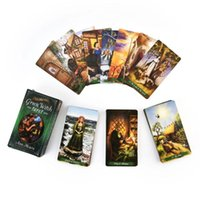 Wholesale 78pcs The Green Witch Tarot Cards Deck Green Witchcraft Series Family Party Board Game Oracle Playing Card yxlrBk hwjh