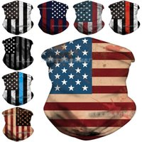Wholesale motorcycle tube face masks for sale - Group buy AHL Shipping American Flag Bandana for Men Women Styles Neck Gaiter Tube Seamless Face Cover Reusable Motorcycle Half Mask Scarf AHD1293