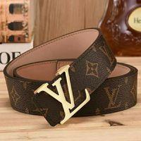 Wholesale waist holder for sale - Group buy Hot Designer brand Leather Belt Metal Buckle printing belt for Womens Mens High Quality Men Waist Belts LV LOUIS VUITTON