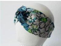 Designer 100% Silk Cross Headband Women Girl Elastic Hair bands Retro Turban Headwraps Gifts Flowers Hummingbird Orchid