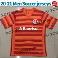 Wholesale customized sports jerseys resale online - 2020 Sport Club Internacional soccer jersey third men soccer shirt short sleeeve Internacional customized Football uniforms