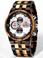 Wholesale mens wooden watches for sale - Group buy Natural Wood Watch for Men Calendar Date Luminous Pointer Mens Solid Wooden Wristwatch Real Sandalwood Quartz Luxury Creative Design Watches