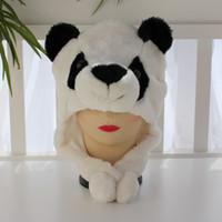 100pcs Free EMS Ship Christmas hat Cartoon Animal Penguin Plush Warm Cap panda style Hat Warmer Mix Color