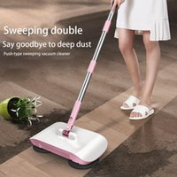 Wholesale dustpan sweeper resale online - Cleaning Floor Hand Push Sweeper Household Broom Dustpan Mop All In One Gift Mop Sweeper Without Dead Corner Cleaning Mops Gift bbyapx