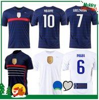 Wholesale 2020 France MBAPPE GRIEZMANN POGBA jerseys Soccer jersey Football shirts maillot de foot men kids kit